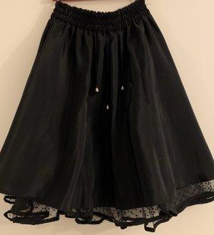 Falda de tafetán negro