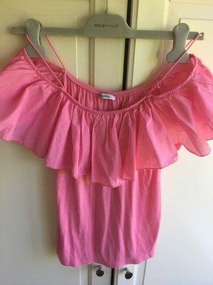 Volanttop in Pink nie getragen Mötivi