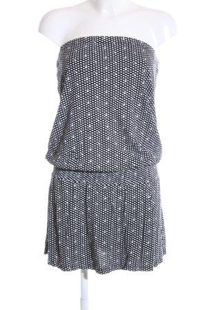 Volcom Bandeaukleid schwarz-weiß abstraktes Muster Casual-Look