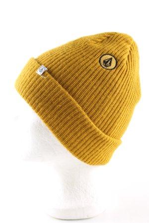 Volcom Berretto giallo pallido stile casual