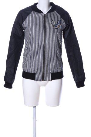 Volcom Blouson schwarz-weiß Streifenmuster Casual-Look