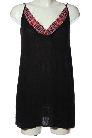 Volcom Camisole schwarz grafisches Muster Casual-Look