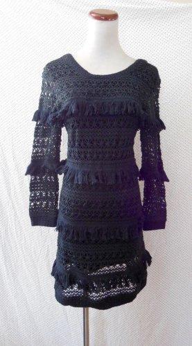 Volcom Coco Dress Longpullover Vintage Sweater mit Fransen rückenfrei
