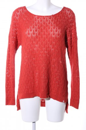 Volcom Crochet Sweater red casual look