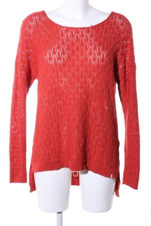 Volcom Jersey de ganchillo rojo look casual