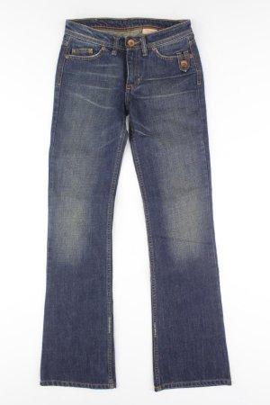 Volcom Jeans blue-neon blue-dark blue-azure cotton
