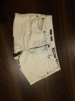Volcom Short en jean beige clair-bleu clair