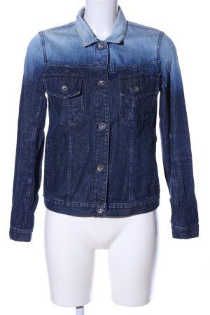 Volcom Veste en jean bleu gradient de couleur style décontracté
