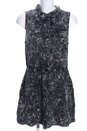 Volcom Jeanskleid schwarz-wollweiß abstraktes Muster Casual-Look