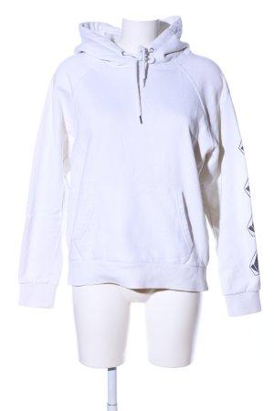 Volcom Kapuzensweatshirt weiß-schwarz Motivdruck Casual-Look