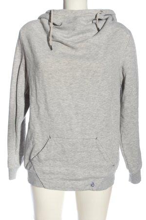 Volcom Sweat à capuche gris clair moucheté style décontracté