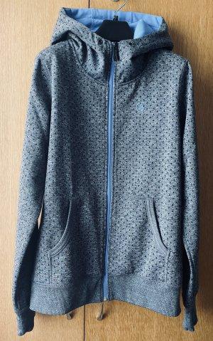 Volcom Hooded Vest grey-light blue cotton