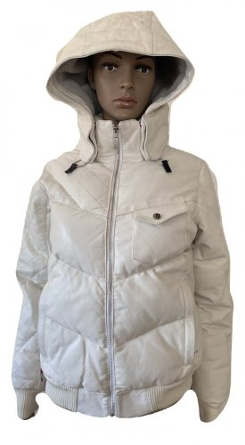 Volcom Down Coat white leather