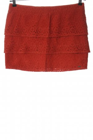 Volcom Minifalda rojo look casual