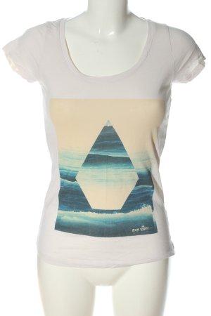 Volcom Camiseta estampada blanco puro-azul estampado temático look casual