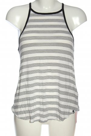 Volcom Haut à fines bretelles blanc-noir motif rayé style décontracté