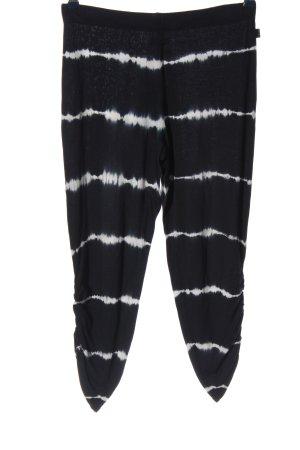 Volcom Pantalon en jersey noir-blanc motif rayé style décontracté