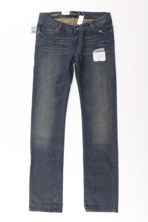 Volcom Straight Leg Jeans blue-neon blue-dark blue-azure cotton