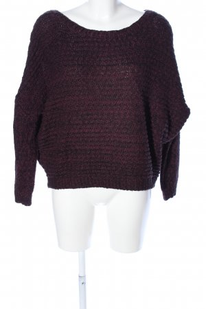 Volcom Strickpullover lila meliert Casual-Look