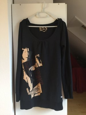 Volcom Vestido de tela de sudadera negro