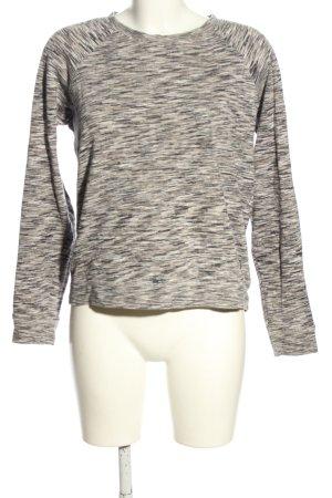 Volcom Sweatshirt blanc-noir moucheté style décontracté