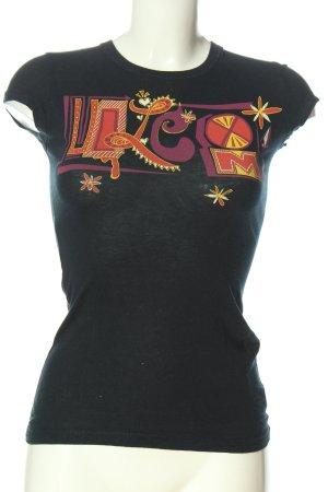 Volcom T-shirt noir imprimé avec thème style décontracté