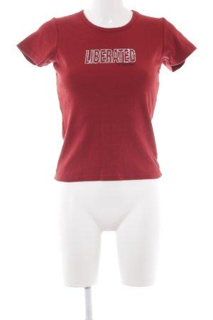 Volcom T-Shirt karminrot Casual-Look