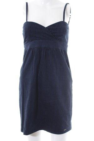 Volcom Robe à bretelles bleu foncé-noir motif rayé style décontracté