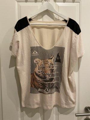 Volcom T-shirt beige-noir