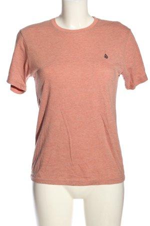 Volcom Camiseta rosa estampado a rayas look casual