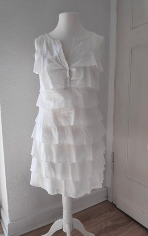 Esprit Flounce Dress white-natural white