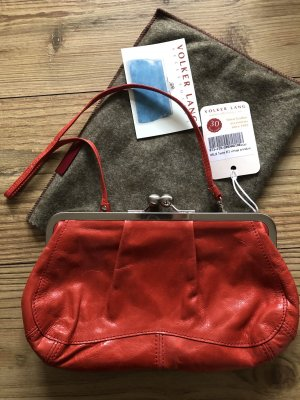 Volker Lang Borsa clutch rosso