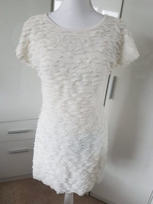 no name Vestido estilo flounce blanco puro