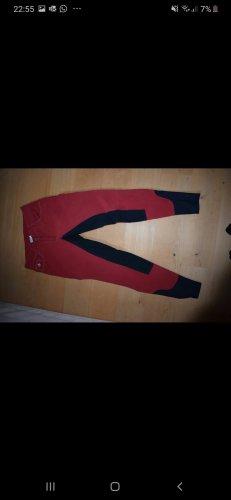 Felix Bühler Pantalone da equitazione rosso-blu scuro