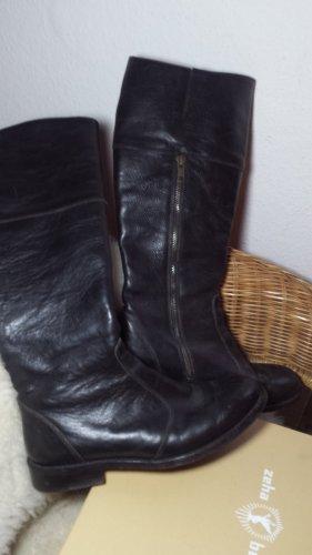 Bottes à l'écuyère noir cuir
