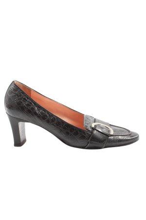 Voltan Loafers zwart dierenprint zakelijke stijl
