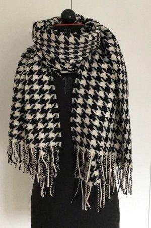 Hugo Boss Sjaal van kasjmier zwart-wit Wol