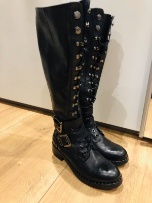 Marc Cain Overknees black leather