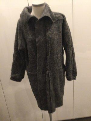 Manteau en laine gris foncé