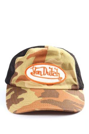 von Dutch Baseball Cap camouflage pattern athletic style