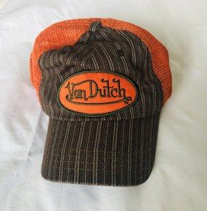von Dutch Baseballówka brązowy-pomarańczowy