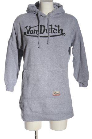 von Dutch Sudadera con capucha gris claro moteado look casual
