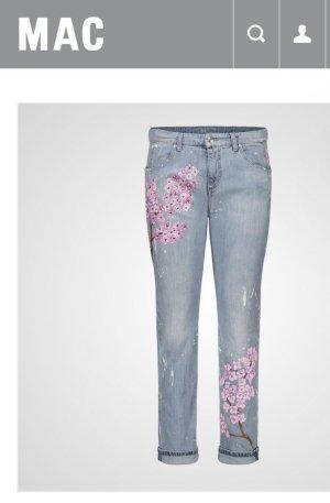 Von Hand gemalte Mac Jeans mit Swarovski