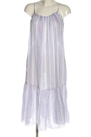 Von Herzen Robe à volants gris clair-blanc imprimé allover style décontracté