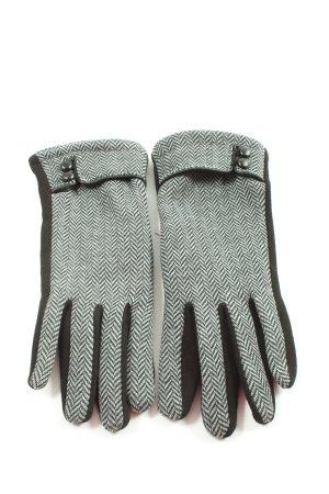 VON LAMEZAN Gant à doigts noir-blanc imprimé allover style décontracté