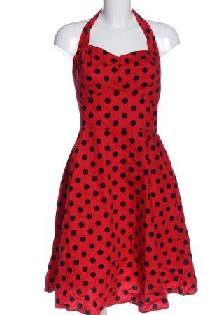 Voodoo Vixen A-Linien Kleid rot-schwarz Punktemuster Casual-Look