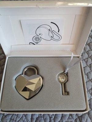 Swarovski Key Chain silver-colored