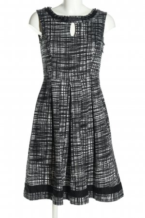 Votre Mode Etuikleid schwarz-weiß Allover-Druck Business-Look