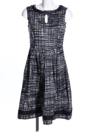Votre Mode Minikleid schwarz-weiß Allover-Druck Business-Look