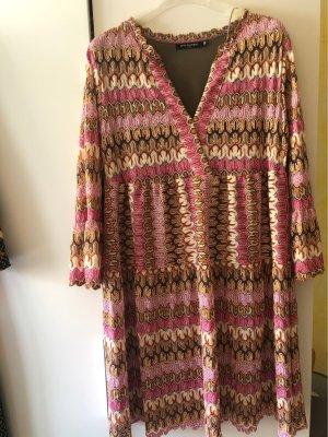 Boutique Sukienka z długim rękawem różowy-beżowy